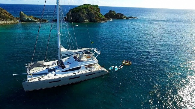 Xenia fleet 74′ , 62′ or 50′ cats take 15% off charter prices