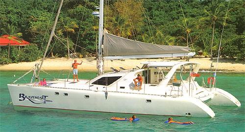 Braveheart 58′ catamaran 3 kids go free