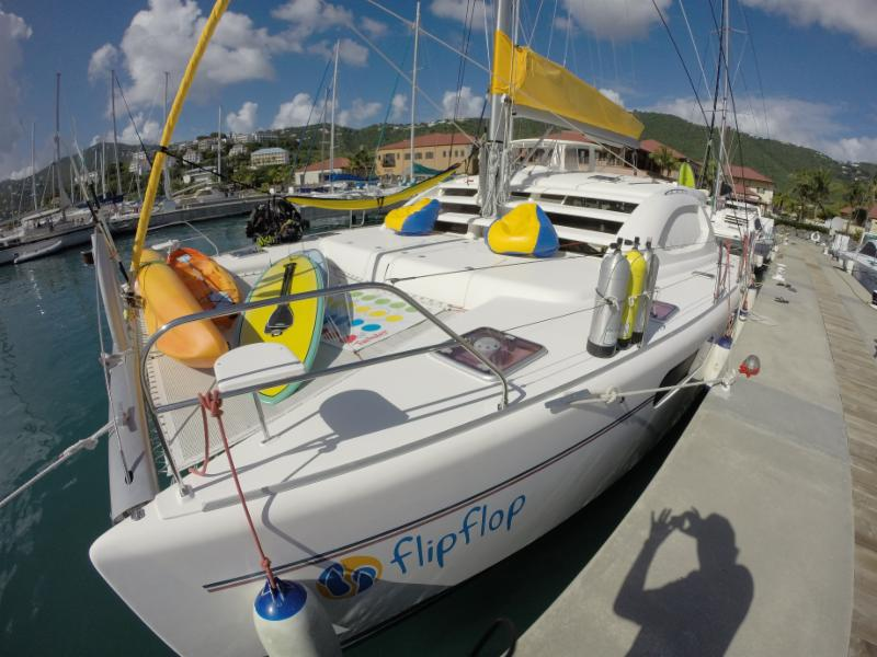 Flip Flop 47′ cat – take $2,000 off 7 night charters