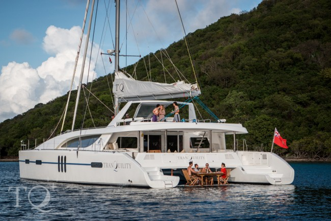Tranquility 76′ cat August special $46,000 for 12 guests all-inclusive